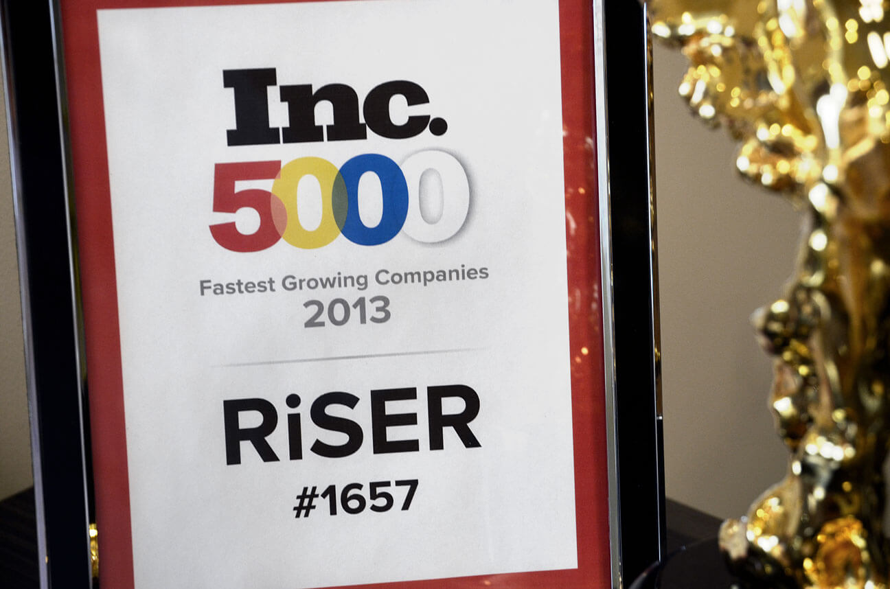 Riser Named to INC. Magazine's Annual 500/5000 List