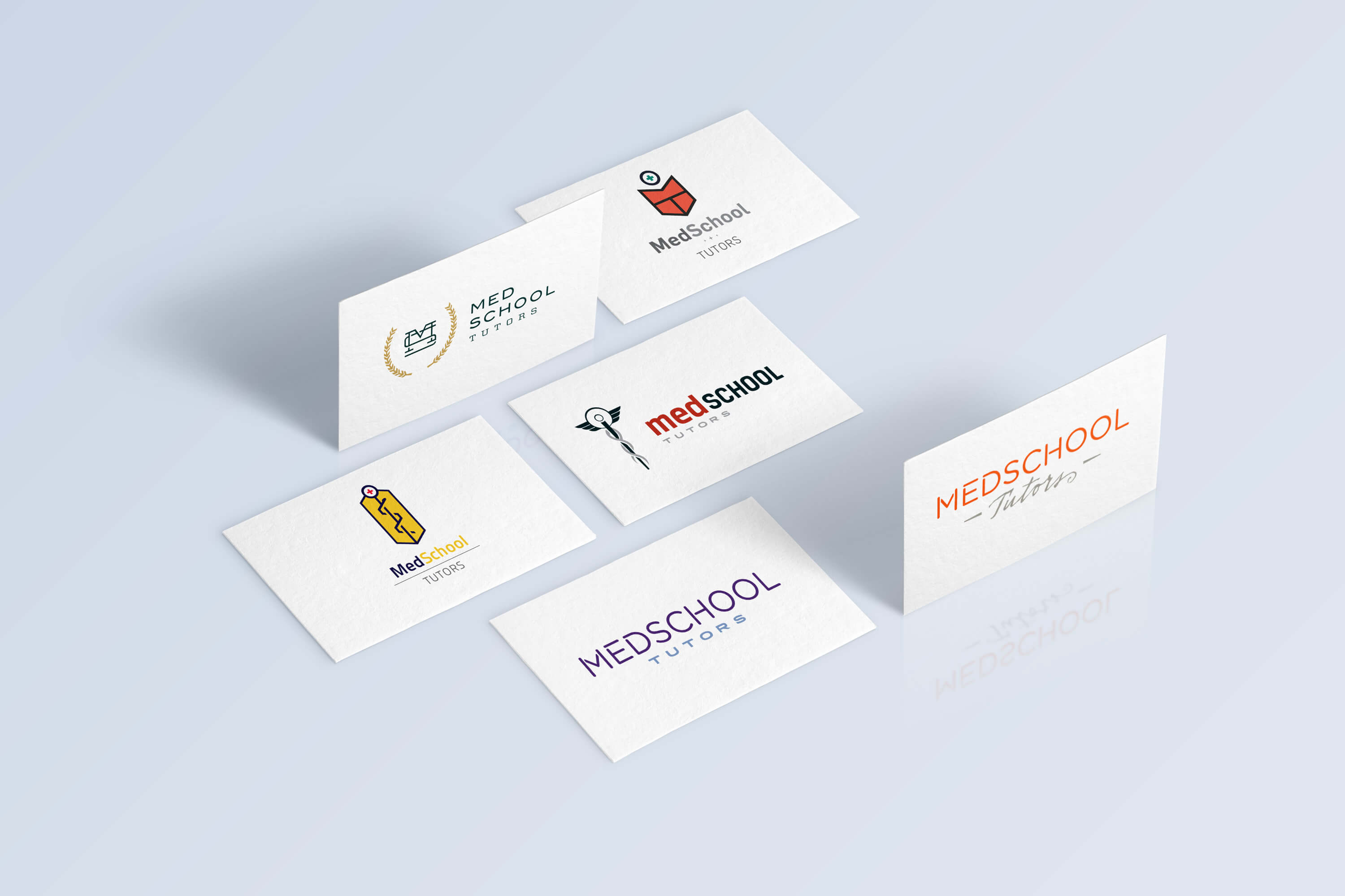 Medschool tutors branding website design ekr portfolio business card design colourmoves